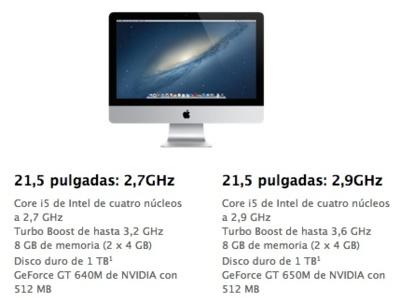 Sigue la sequía de los iMac: los envíos del modelo de 21,5 pulgadas se retrasan una semana