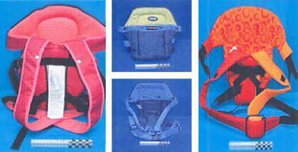 Consumo prohíbe 3 mochilas portabebés, varios modelos de chupete y un parque
