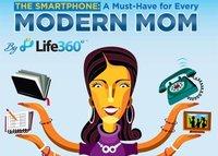 Mamás modernas y los teléfonos inteligentes