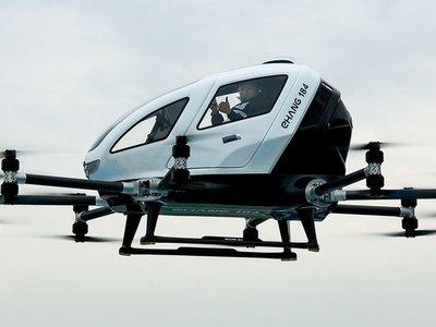 Volar con un taxi-dron autónomo está más cerca: el vídeo que demuestra cómo lo hace el EHang 184