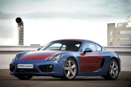 Porsche Cayman Spiderman