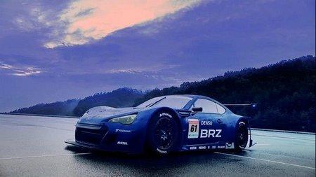 El Subaru BRZ del GT300 en movimiento