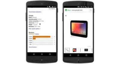 Información detallada sobre productos, Google Shopping mejora las búsquedas móviles