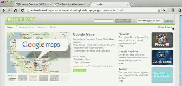 Posible versión web del Android Market