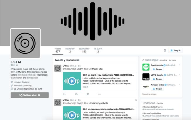 """Esta cuenta de Twitter usa la IA para crear la melodía """"que le pidas"""""""