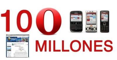 Opera supera los 100 millones de usuarios
