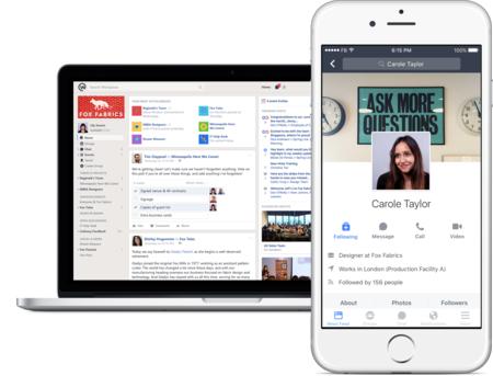 Facebook lanza WorkPlace, su plataforma empresarial para competir con servicios como Slack