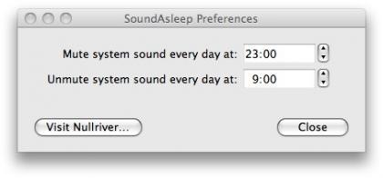 SoundAsleep, programa el sonido de tu Mac