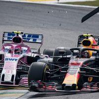 Max Verstappen pierde los nervios y golpea a Esteban Ocon tras perder la victoria en Brasil