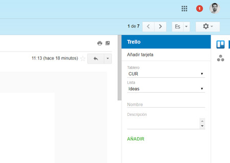 Extension Gmail Trello Ejemplo Integracion