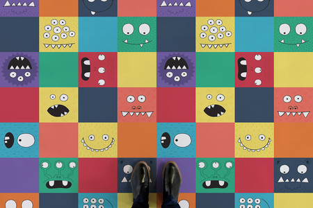 Patchwork Monsters Shoes Web