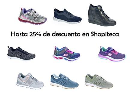 Cupones de descuento de hasta el 25% en Shopiteca en las marcas New Balance, Geox, Sketchers o Saucony
