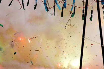 Valencia en fallas: la pólvora
