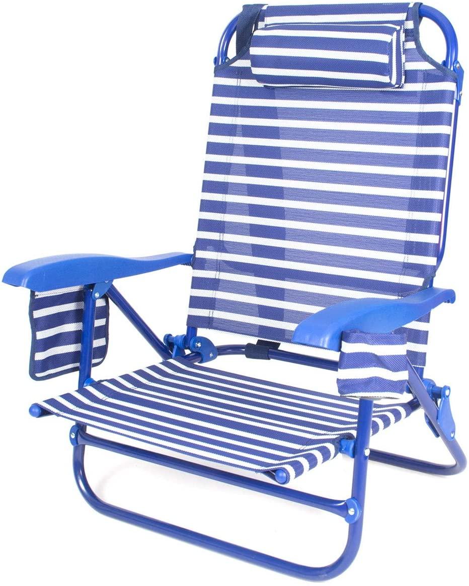 CREVICOSTA QUALITY MARK MARCAS DE CALIDAD 440-2 Silla Caballito Playera. Azul Marinero.