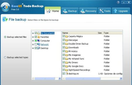 Copia de seguridad Easeus Todo Backup Free 3.0