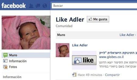 Unos padres llaman Like a su bebé por el botón 'Me gusta' de Facebook