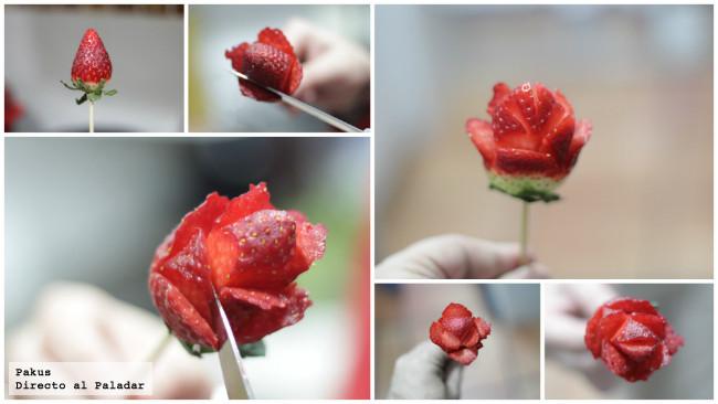 Como hacer flores de fresas imagui - Como hacer zumo de fresa ...