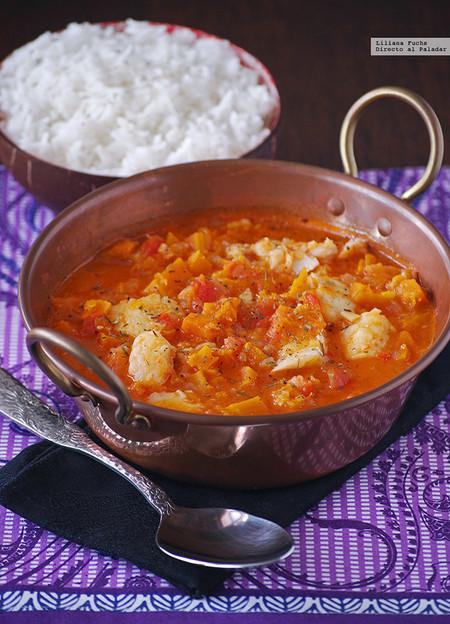 Curry Rojo Bacalao Y Calabaza