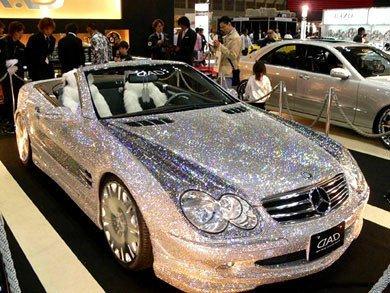 Un Mercedes SL55 de brillantes