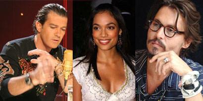 Rosario Dawson, Johnny Depp y Antonio Banderas en las dos secuelas de 'Sin City'