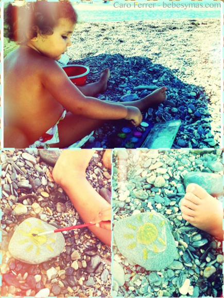 niños piedras
