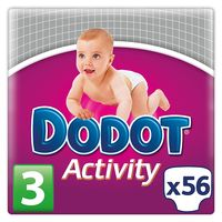 Dodot Activity talla 3 pack de 56 pañales por 15,14 euros en Amazon