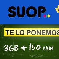 SUOP sube su apuesta mínima a 3 GB, por 4,99 euros con 150 minutos o con minutos ilimitados por tres euros más