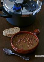 Caricos estofados o alubias rojas de Cantabria. Receta en olla express
