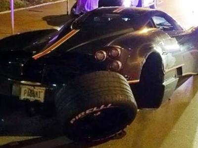 Dolorpasión™ es ver un Pagani Huayra perder una rueda en la noche de Miami