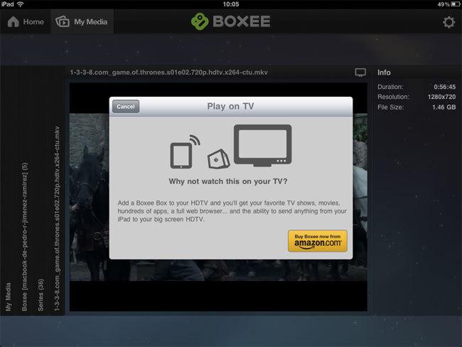 Foto de Boxee para iPad (3/7)
