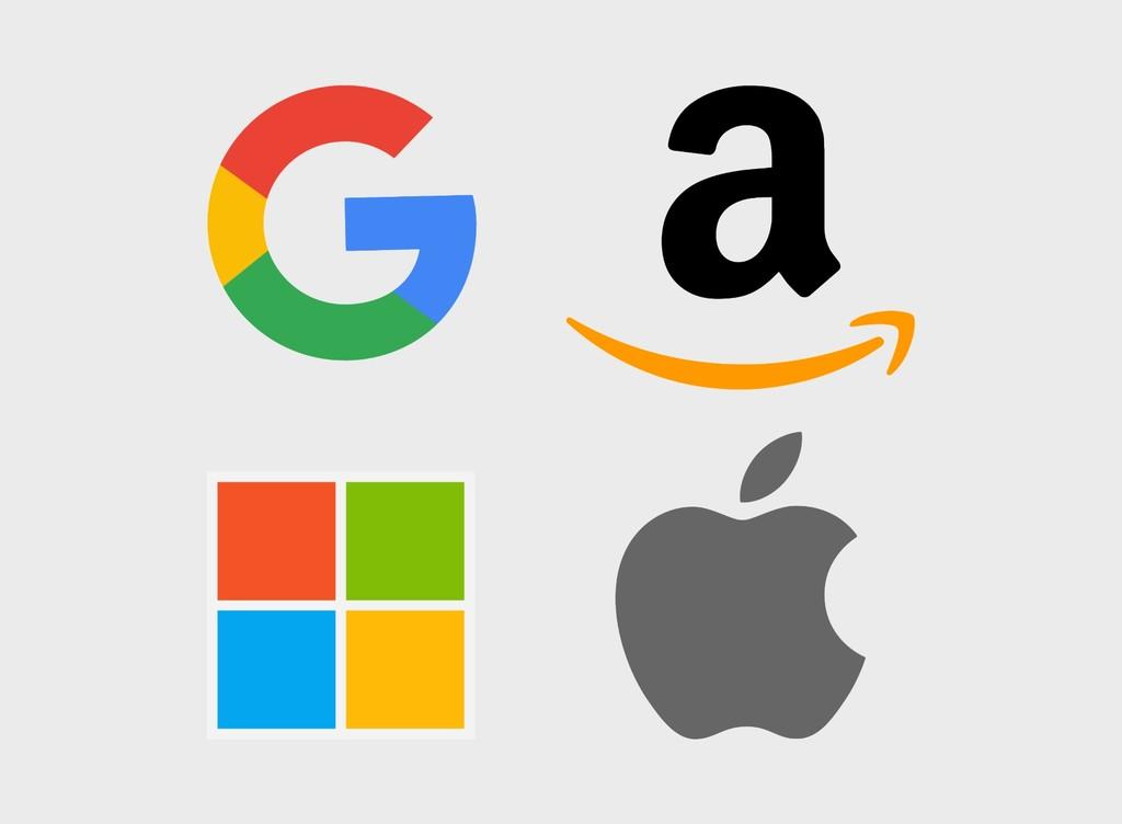 Apple, Microsoft, Google y Amazon: el círculo de las cuatro grandes tecnológicas bate récords y ya valen más de un billón de dólares