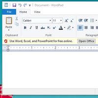 La última víctima de la publicidad de Microsoft dentro de Windows 10 es el viejo WordPad