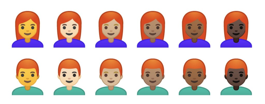 Emoji Redheads Android-OS P Beta Emojipedia