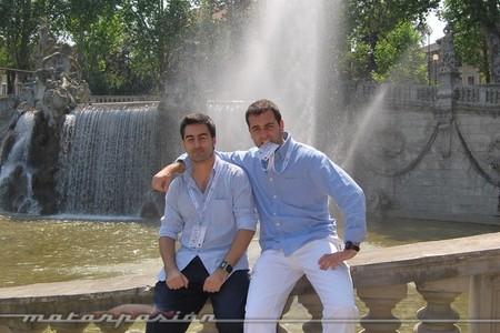Con Javier Romagosa en Italia (2010)