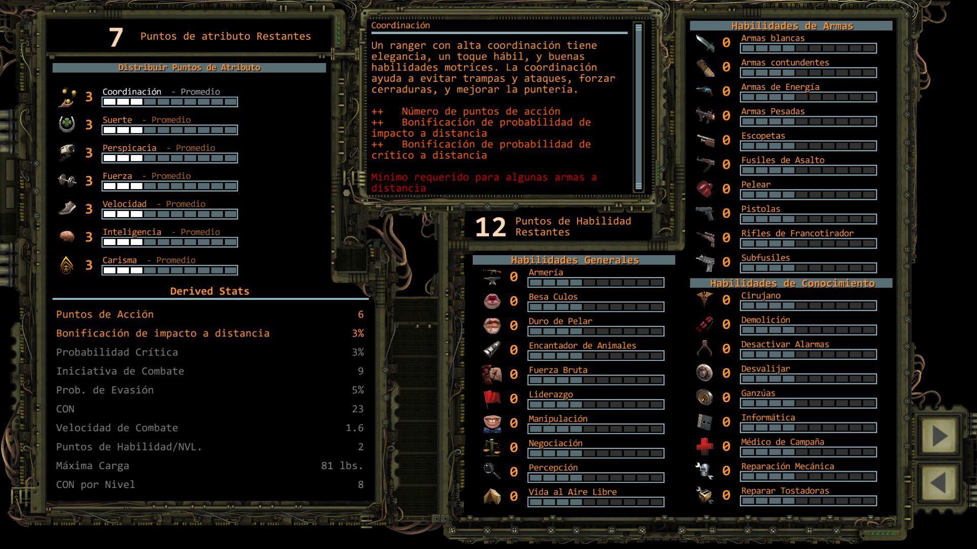 Foto de Distribución de puntos de Atributo en Wasteland 2 (3/11)