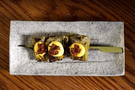 Yakitoro 2 0 Alcachofas Con Huevo Frito 2 Min