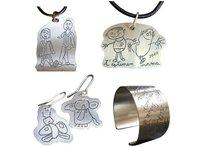 Joyas de plata personalizadas con el dibujo de tu hijo