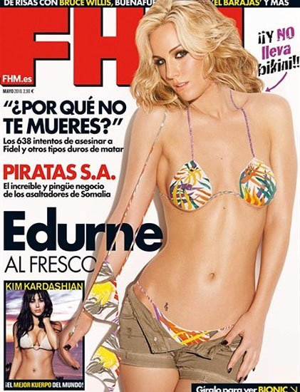 Edurne de nuevo en la portada de FHM, ¡y van tres!