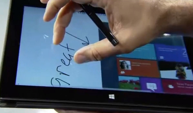 Surface multitouch and pen