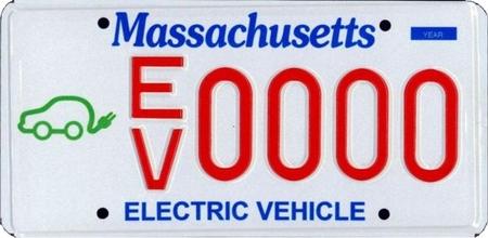 Los eléctricos y los híbridos de Massachusetts tendrán placas de matrícula específicas