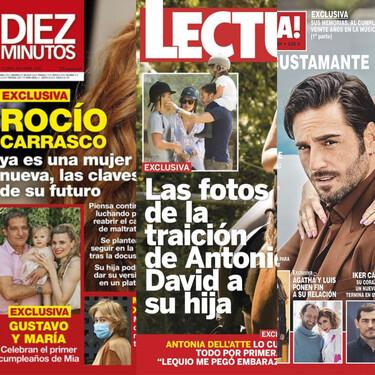 Los planes de futuro de Rocío Carrasco, la puñalada trapera de Antonio David a su hija y el nuevo casoplón de Bustamante: estas son las portadas del miércoles 5 de mayo