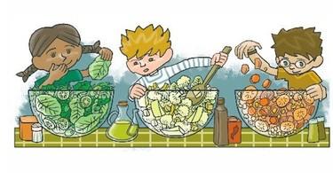 Dejar al niño que elija las verduras