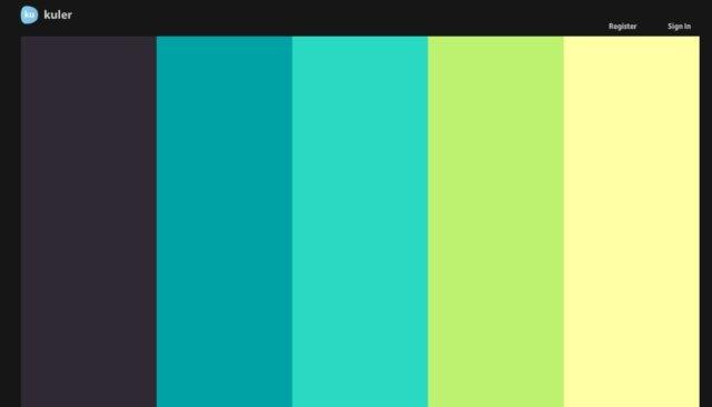 Kuler eligiendo paletas de colores - Paleta de colores valentine ...