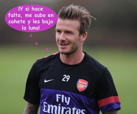 A David Beckham le pirra ejercer de papi molón