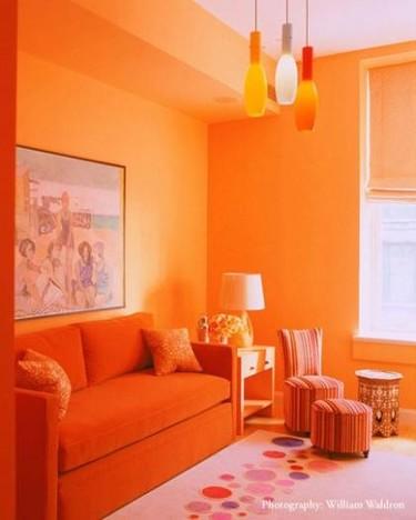 Una habitación.... ¿en naranja?