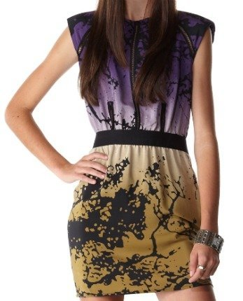 Vestido de seda pintada en degradado de Dolce Vita