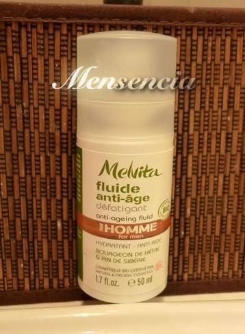 Melvita, cosmética Bio y Ecocert para hombre. Probamos el fluído antiedad anti-fatiga