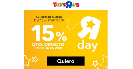 Toys 'r us celebra su propio Prime Day con un descuento del 15% en toda su web