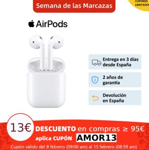 Apple AirPods 2 con estuche de carga con cable