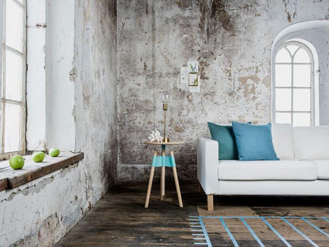 Decoracion Industrial Habitacion ~ Azul y gris en un entorno industrial con toques  vintage  y mucha